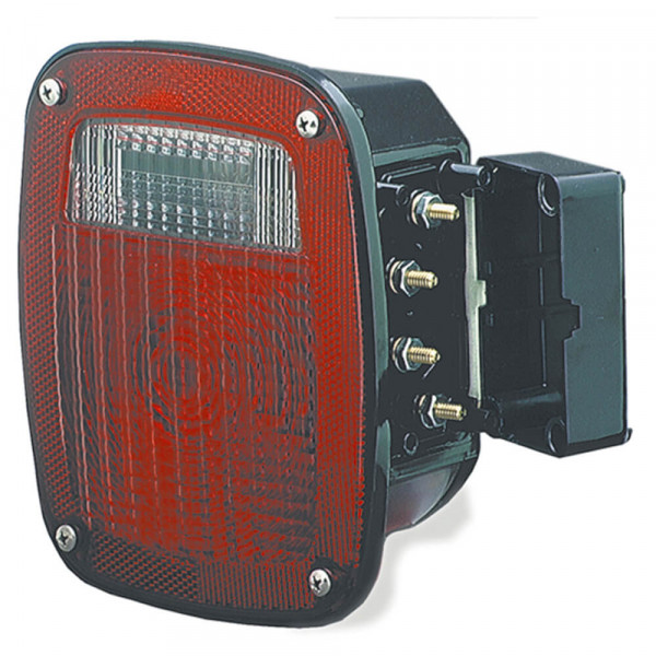 luz de frenado / trasera / direccionaltorsion mount, universal, ventana para matrícula a mano derecha, rojo
