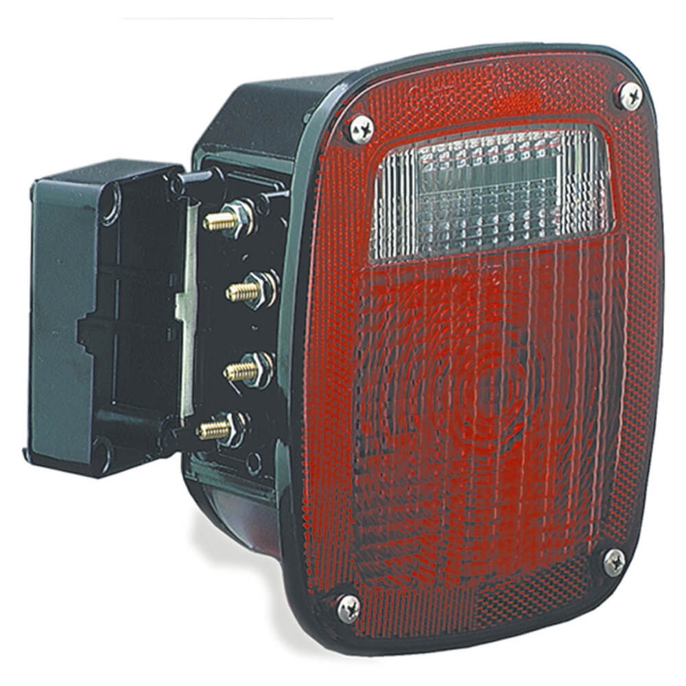 torsion mount unicersal stop tail turn light lh license window red