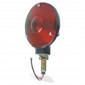 4 zinc single face light double contact black finish red thumbnail