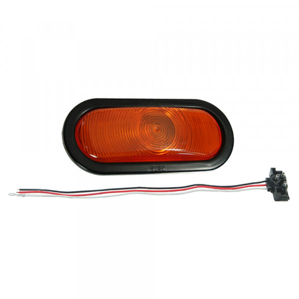 Economy Oval Stop Tail Turn Light yellow kit front park trun