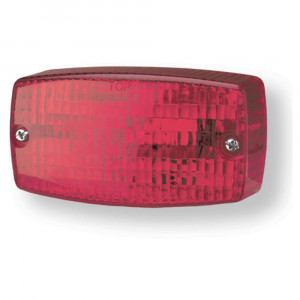 rectangular surface mount turn light red