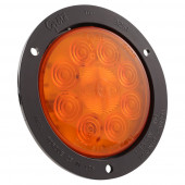 LED Auxiliary Turn Light with Black Theft-Resistant Flange