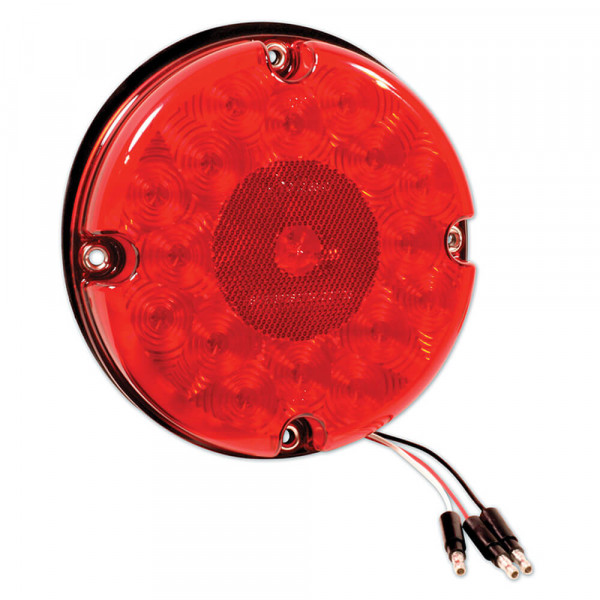 7 led stop tail turn light reflex red bulk