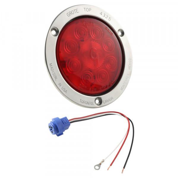 """Luz LED de frenado/trasera /direccional SuperNova®, 10 diodos y 4"""", Juego rojo"""