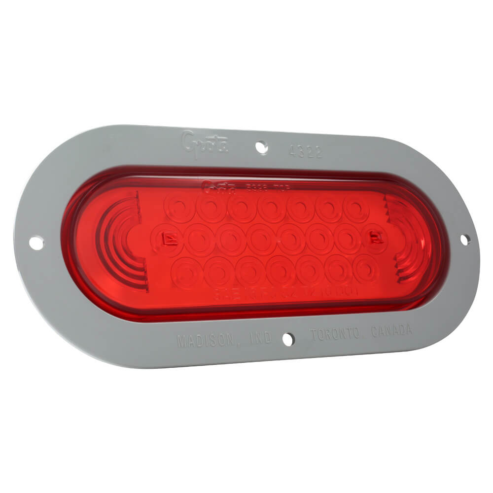 supernova oval led stop tail turn light theft resistant flange red