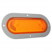 supernova oval led stop tail turn light gray theft resistant