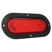 supernova oval led stop tail turn light theft resistant black flange red