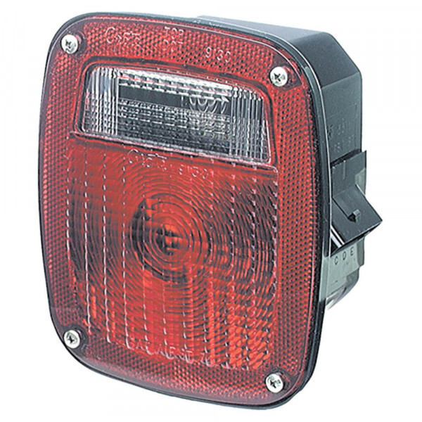 led stop tail turn light wth license window