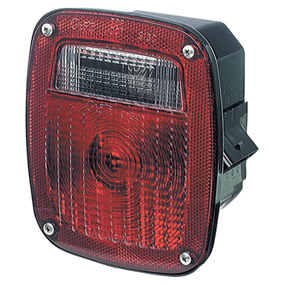 three stud metri pack stop tail turn light lh license window red