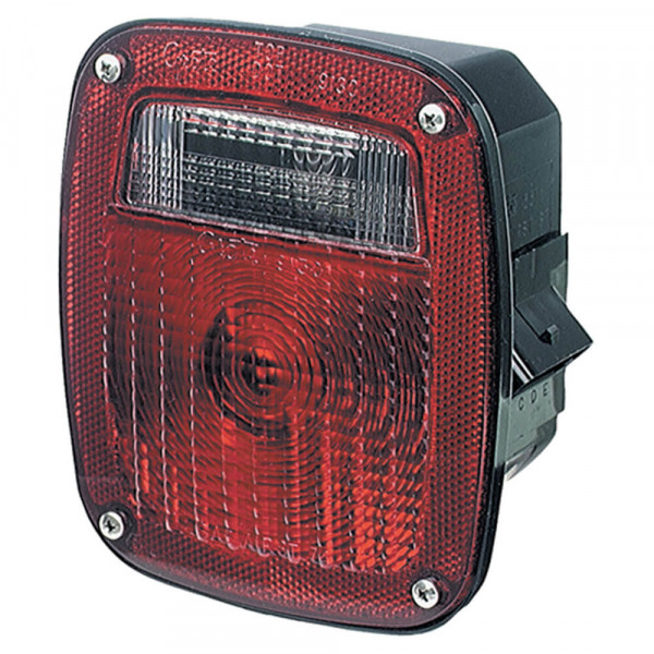 53712 - three-stud stop tail turn light, lh w/ license window, red  grote industries
