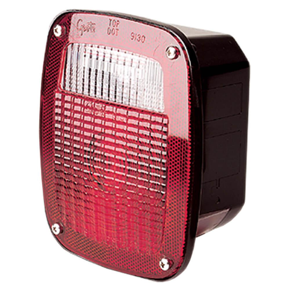 luz de frenado / trasera / direccional cuadrada ford, ventana para matrícula a mano derecha, rojo