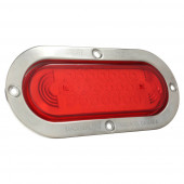 supernova oval led stop tail turn light theft resistant flange