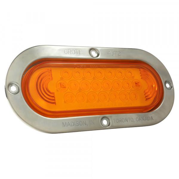 luz led ovalada de frenado / trasera / direccional con brida antirrobo de acero inoxidable