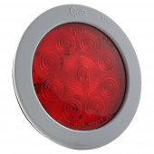 "4"" 10-Diode Pattern LED Stop Tail Turn Light with Gray Snap-In Flange"