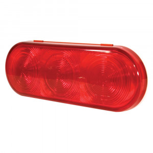 Red LED Oval Stop Tail Turn Light.