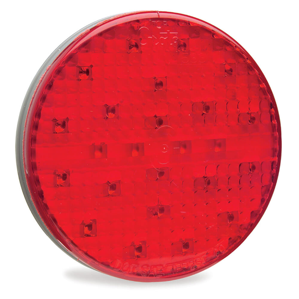 Luz LED de frenado/trasera/direccional con diseño completo SuperNova®, 4″, Montaje con aro protector, Rojo