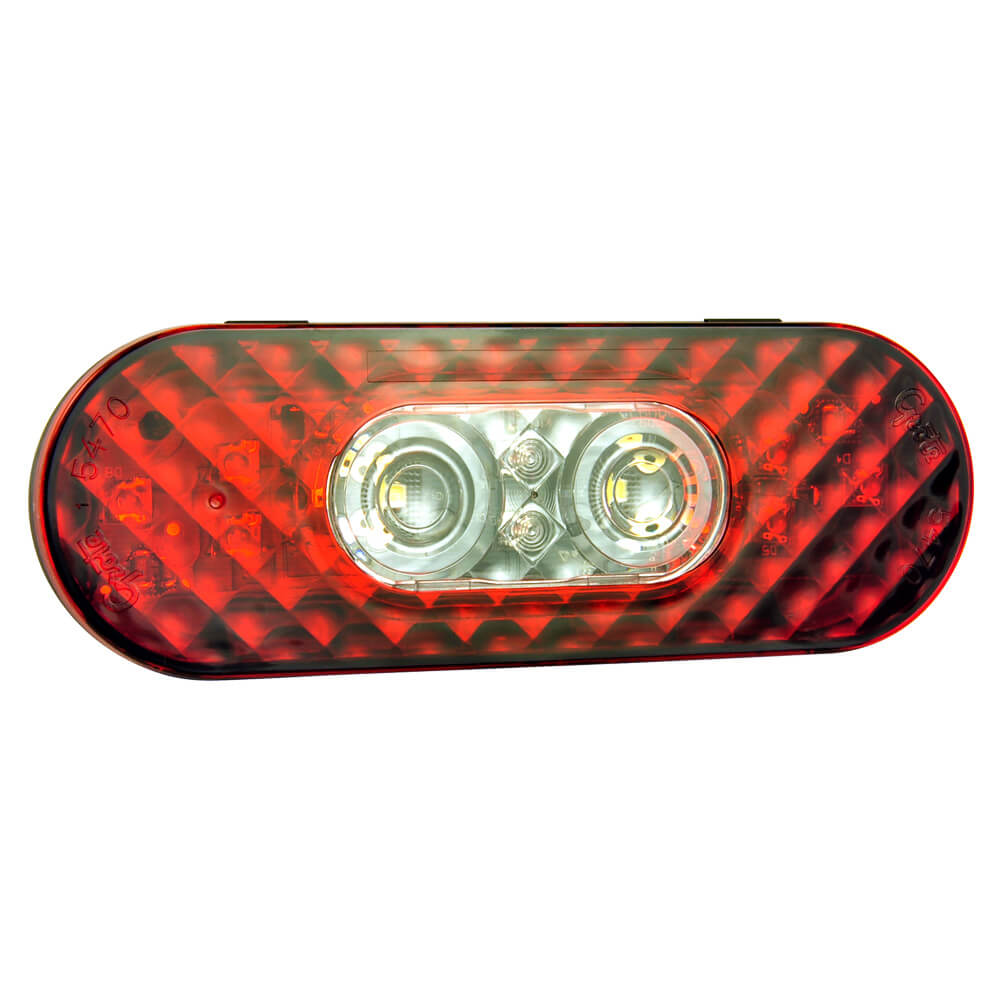 six inch oval stop tail turn with back up light