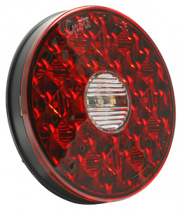 4 inch round LED stop tail turn with back up light