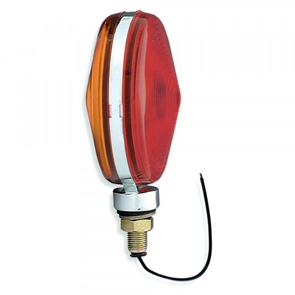 luz de doble cara, zinc fundido a presión, delgado, aluminio, rojo/amarillo