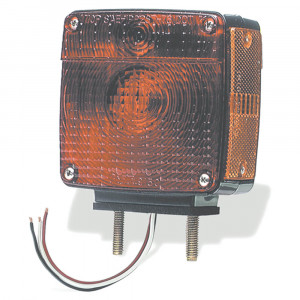 luz con dos varillas roscadas, contector flexible, mano derecha, rojo/amarillo