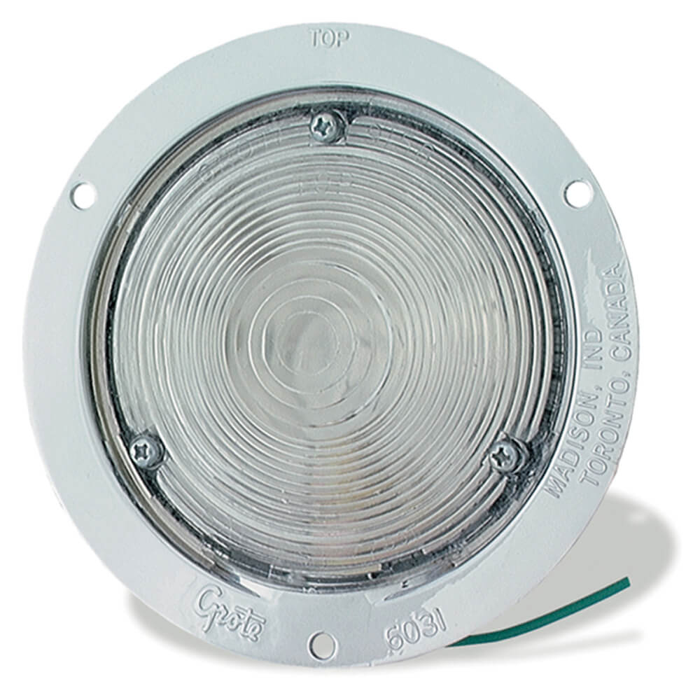 shallow die cast utility light clear