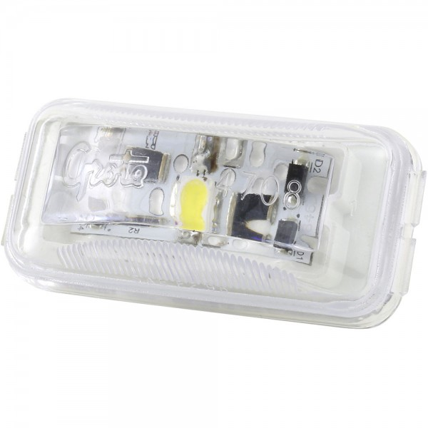 small rectangular led utility light clear