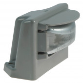 small rectangular license light gray flange clear kit