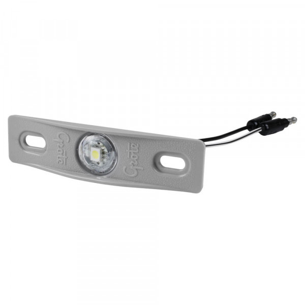 LED License Light With Gray Adapter Bracket