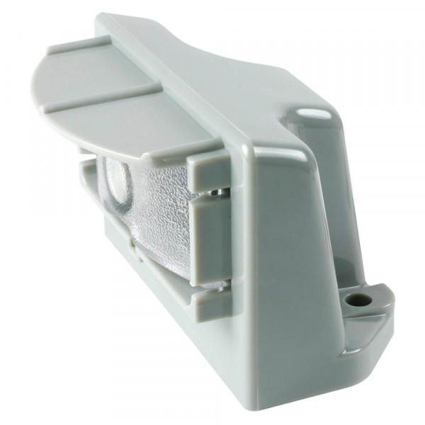 LED License Light With Gray Vertical Mount.