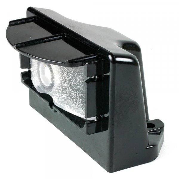 Clear LED License Light With Black Vertical Mount