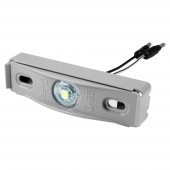 Clear LED License Light With Gray Adapter Bracket.