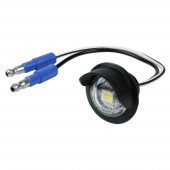 Clear LED License Light With Hooded Grommet.