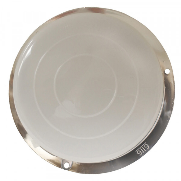 round dome light with switch chrome base