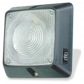 Square Dome Light With Switch, Clear