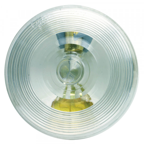 plafonnier rond Torsion Mount II, connecteur mâle, transparent