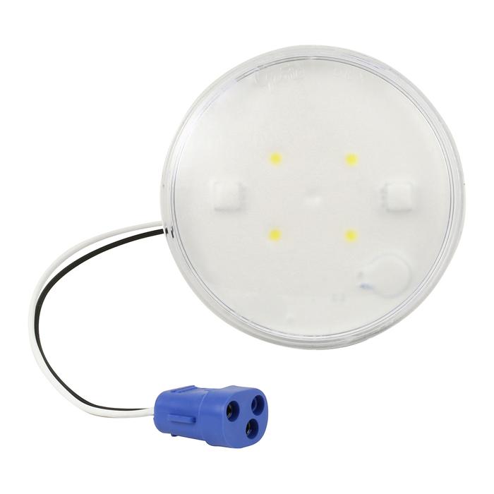 "LED WhiteLight™ 4"" Dome Lights 2 Way Female Pin, 12 V"