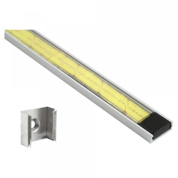 XTL LED Light Strip in Clear Mounting Extrusion