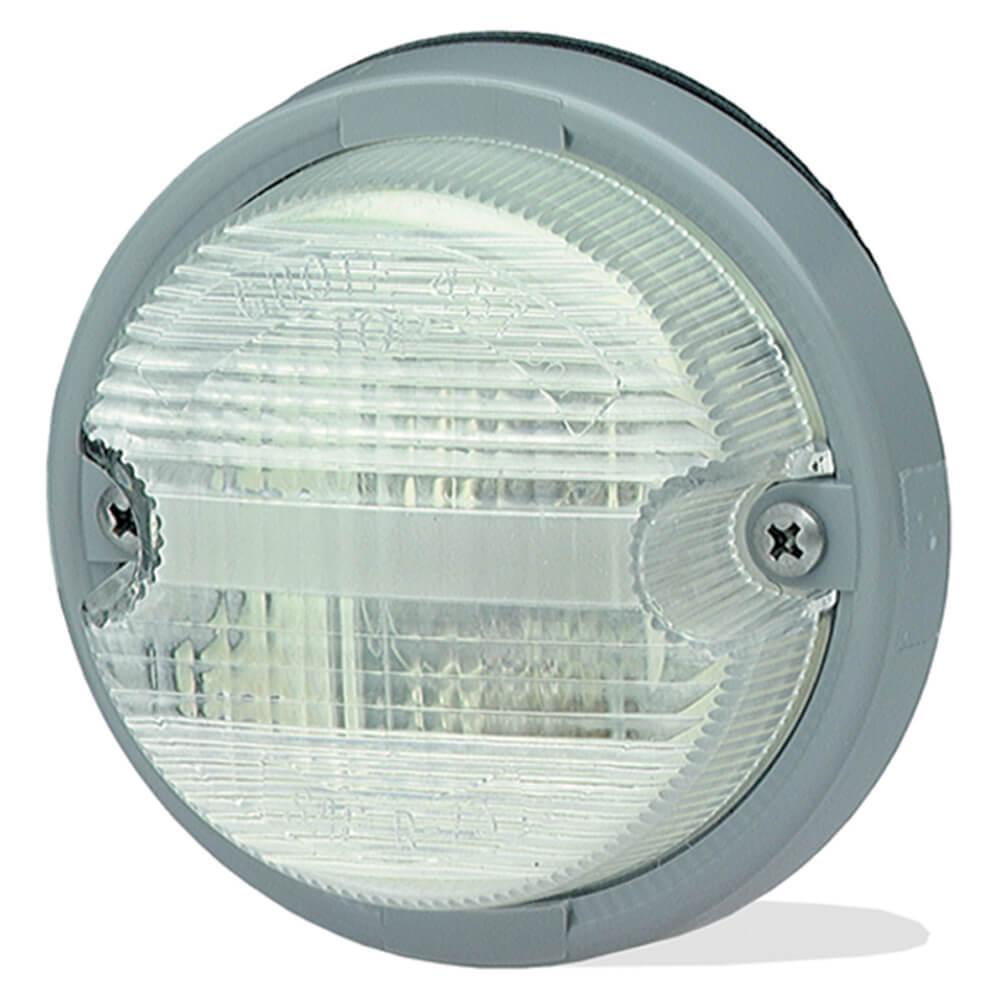 luz de reversa con sistema doble estilo oe transparente con bisel gris