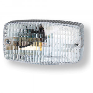 rectangular surface mount dual system backup light clear