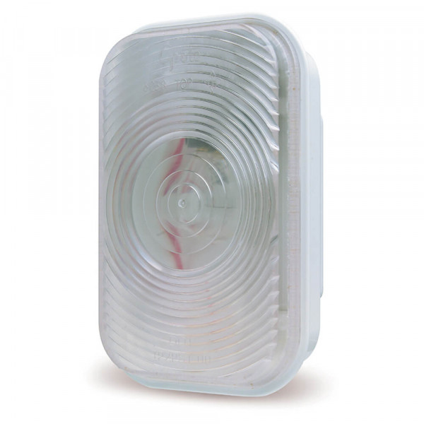 rectangular dual system backup light female clear