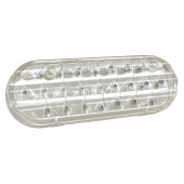 supernova oval dual system led backup light horizontal grommet male clear