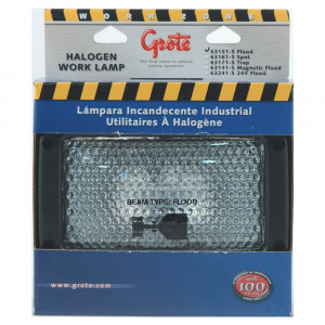 Retail Halogen Rectangular Flood Work Light