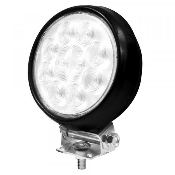 "4"" round utility light spot rubber housing black"