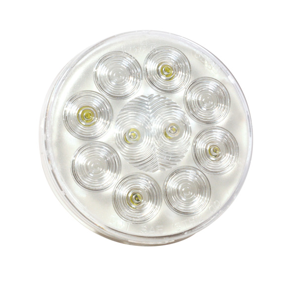 "4"" round utility light hardwire spot clear"