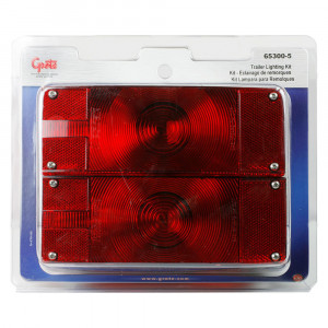 submersible low profile trailer lighting kit red retail