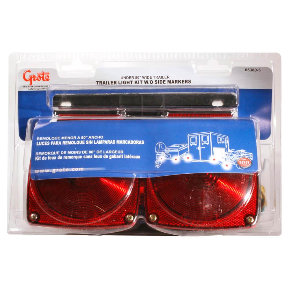 kit d'éclairage pour remorque, unité de vente au détail, rouge