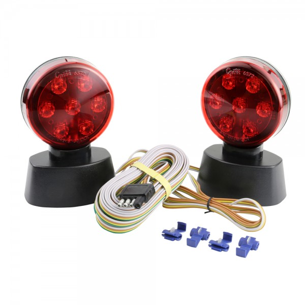 magnetic led towing kit red