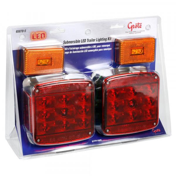Juego de iluminación LED sumergible para remolque