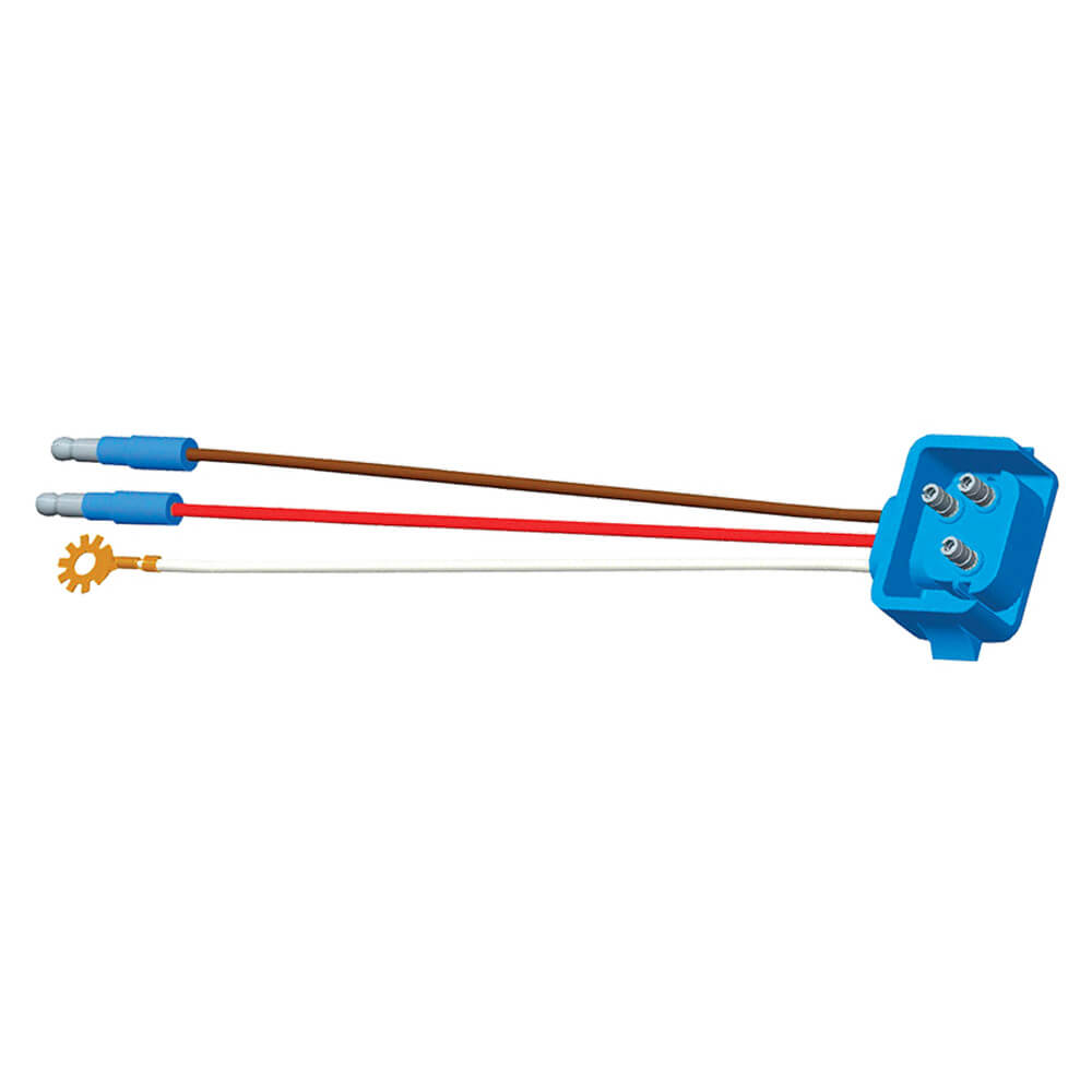 "66811 - Stop Tail Turn Three-Wire 90º Plug-In Pigtails for Female Pin Lights, 18"" Long, Chassis Ground, Slim-Line .180 Male, Star Ring Terminal"