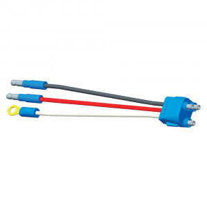 "Stop Tail Turn Three-Wire Plug-In Pigtails for Female Pin Lights, 6"" Long, Chassis Ground, Slim-Line .180 Male"